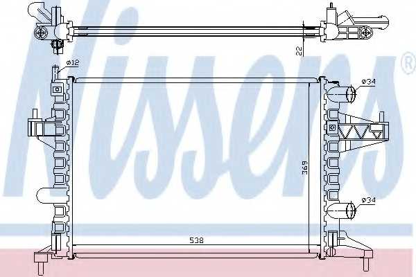 Радиатор охлаждения двигателя NISSENS 63007 - изображение