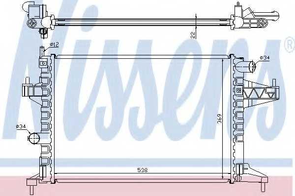 Радиатор охлаждения двигателя NISSENS 63008 - изображение