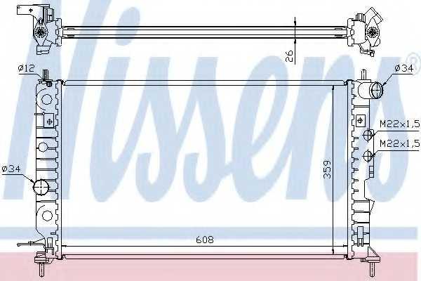 Радиатор охлаждения двигателя NISSENS 630121 - изображение
