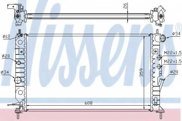 Радиатор охлаждения двигателя NISSENS 63013A - изображение