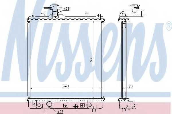Радиатор охлаждения двигателя NISSENS 63014A - изображение
