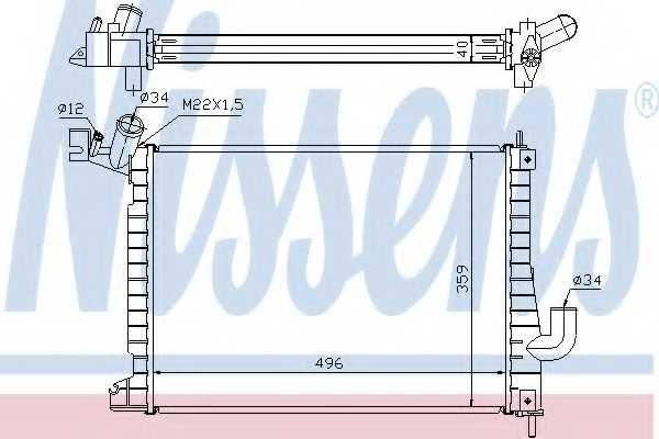 Радиатор охлаждения двигателя NISSENS 63019A - изображение