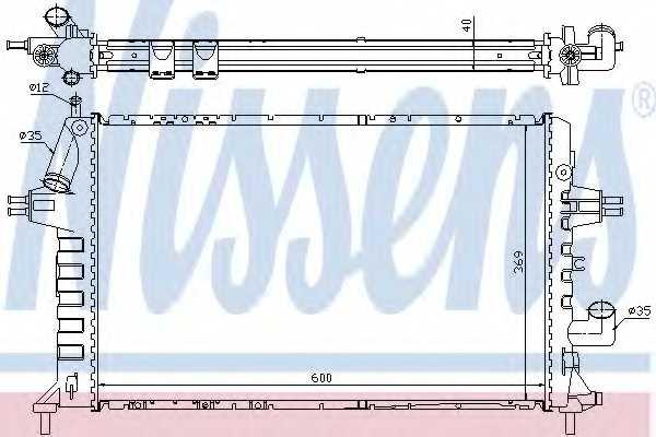 Радиатор охлаждения двигателя NISSENS 63021A - изображение