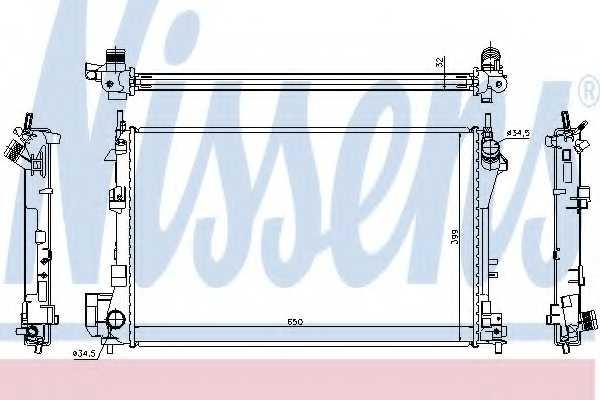 Радиатор охлаждения двигателя NISSENS 63022A - изображение