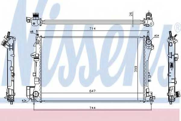 Радиатор охлаждения двигателя NISSENS 63024A - изображение