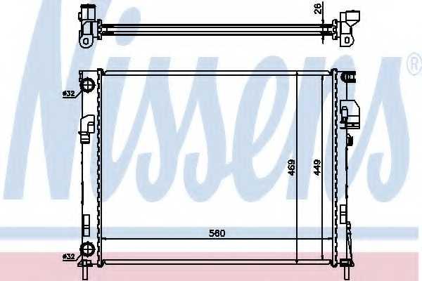 Радиатор охлаждения двигателя NISSENS 63025A - изображение