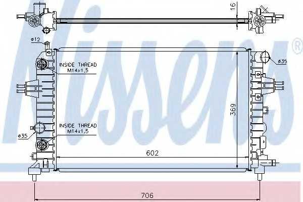 Радиатор охлаждения двигателя NISSENS 63027A - изображение