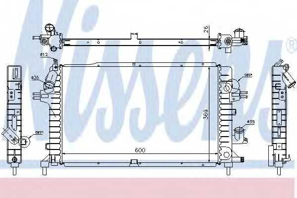 Радиатор охлаждения двигателя NISSENS 63029A - изображение