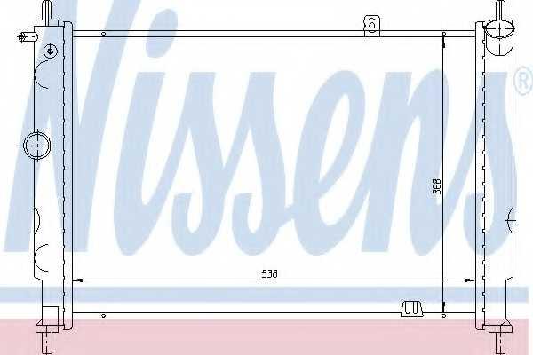 Радиатор охлаждения двигателя NISSENS 63059 - изображение