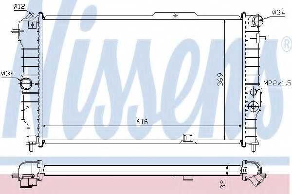 Радиатор охлаждения двигателя NISSENS 630631 - изображение