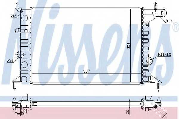 Радиатор охлаждения двигателя NISSENS 630681 - изображение