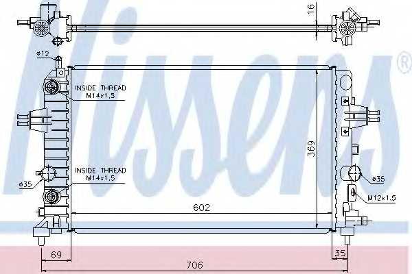 Радиатор охлаждения двигателя NISSENS 630702 - изображение
