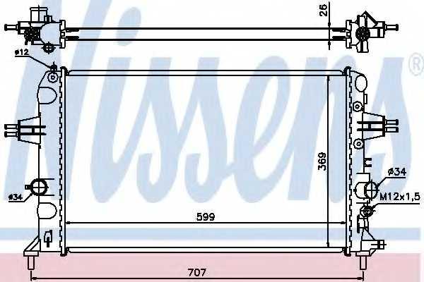 Радиатор охлаждения двигателя NISSENS 630704 - изображение