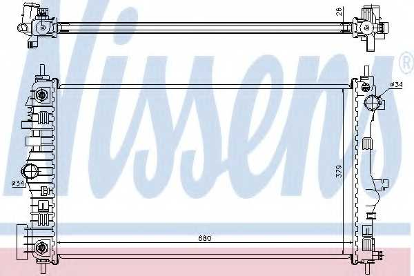 Радиатор охлаждения двигателя NISSENS 630715 - изображение