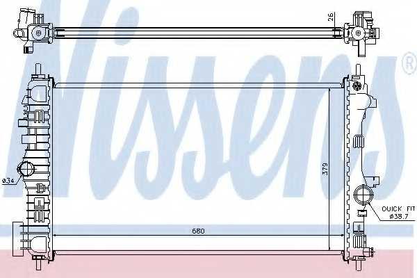 Радиатор охлаждения двигателя NISSENS 630716 - изображение