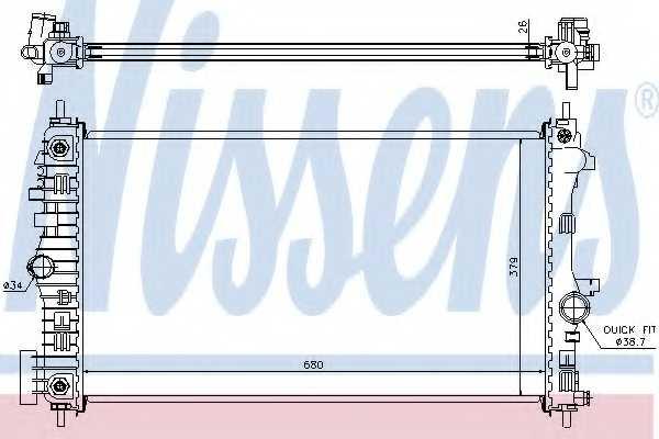 Радиатор охлаждения двигателя NISSENS 630717 - изображение