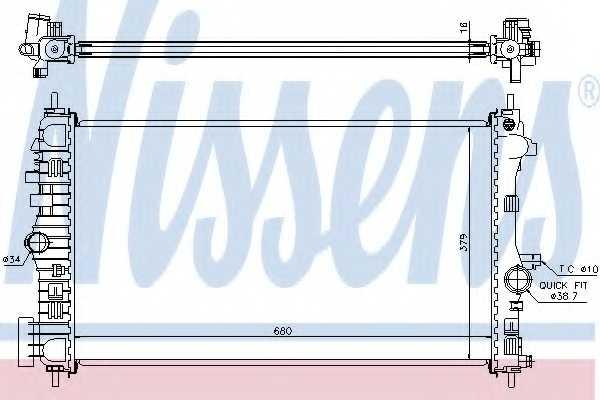 Радиатор охлаждения двигателя NISSENS 630718 - изображение