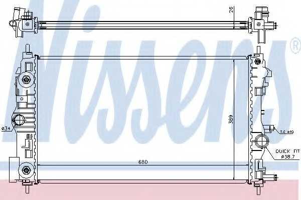 Радиатор охлаждения двигателя NISSENS 630724 - изображение