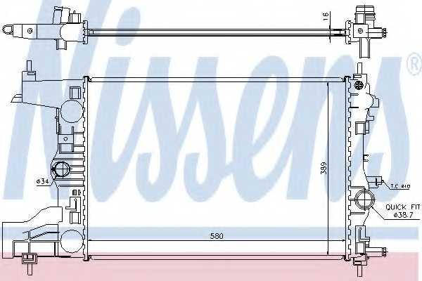 Радиатор охлаждения двигателя NISSENS 630727 - изображение