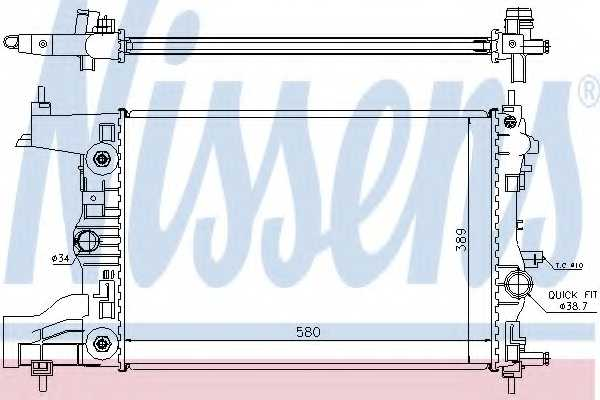 Радиатор охлаждения двигателя NISSENS 630728 - изображение