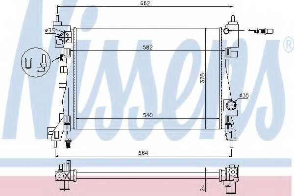 Радиатор охлаждения двигателя NISSENS 630743 - изображение