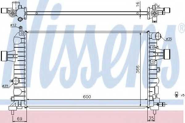 Радиатор охлаждения двигателя NISSENS 630744 - изображение