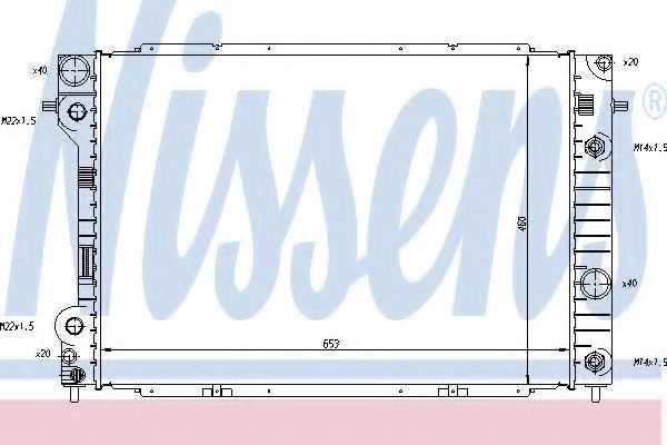 Радиатор охлаждения двигателя NISSENS 63075 - изображение