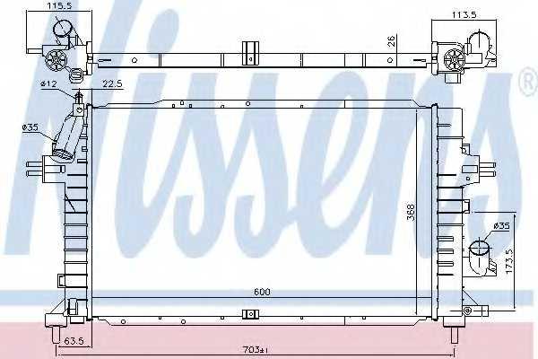 Радиатор охлаждения двигателя NISSENS 630752 - изображение