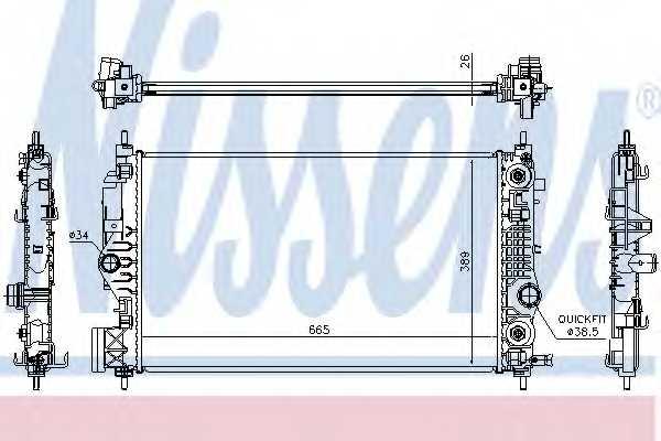 Радиатор охлаждения двигателя NISSENS 630762 - изображение