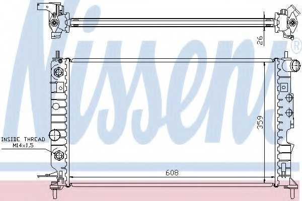 Радиатор охлаждения двигателя NISSENS 630771 - изображение