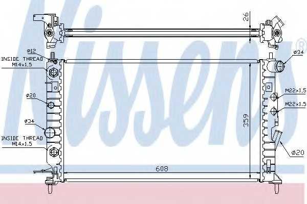 Радиатор охлаждения двигателя NISSENS 63078 - изображение
