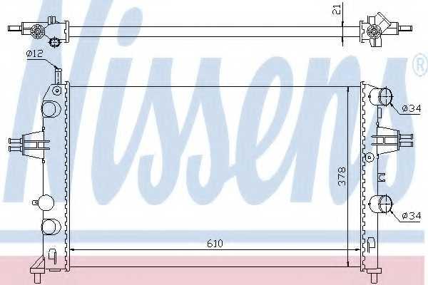 Радиатор охлаждения двигателя NISSENS 63091 - изображение