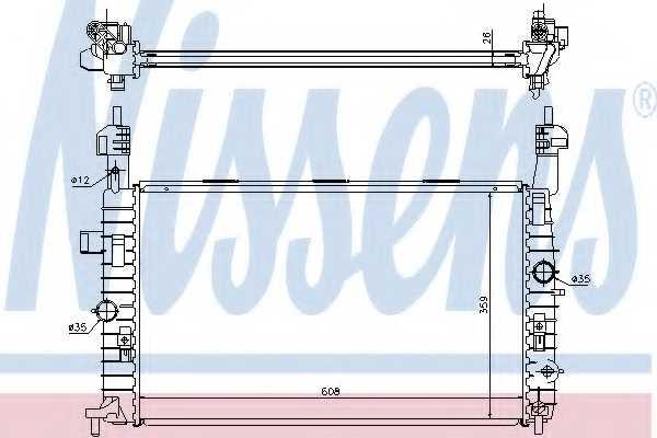 Радиатор охлаждения двигателя NISSENS 63096 - изображение