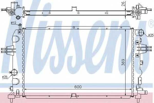 Радиатор охлаждения двигателя NISSENS 63111A - изображение