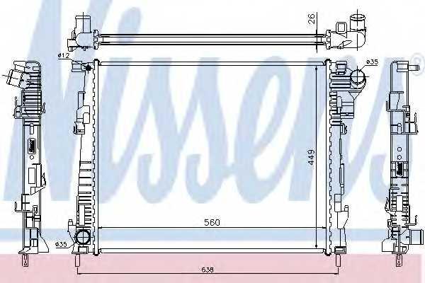 Радиатор охлаждения двигателя NISSENS 63122 - изображение
