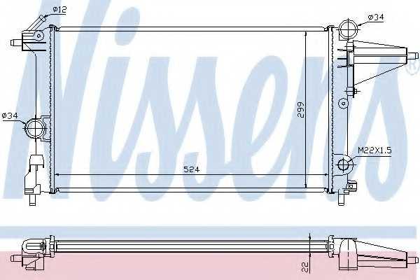 Радиатор охлаждения двигателя NISSENS 632231 - изображение