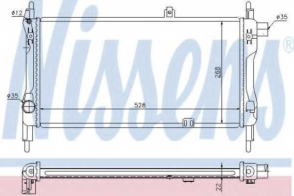 Радиатор охлаждения двигателя NISSENS 632381 - изображение
