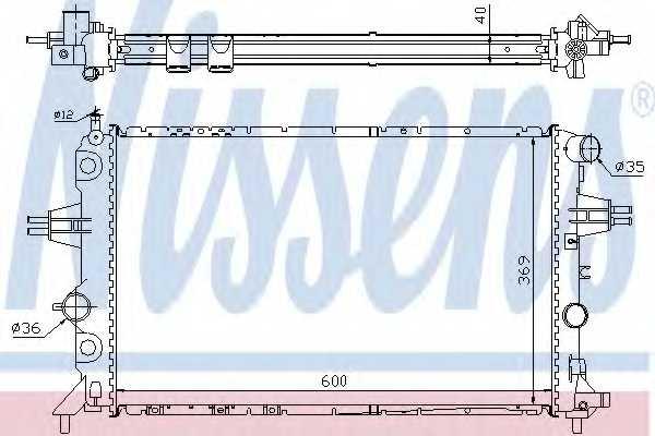 Радиатор охлаждения двигателя NISSENS 63249A - изображение