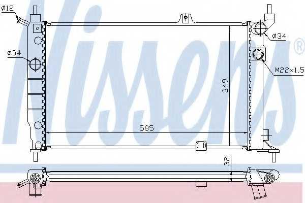 Радиатор охлаждения двигателя NISSENS 63252A - изображение