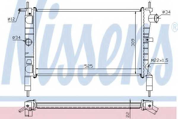 Радиатор охлаждения двигателя NISSENS 632761 - изображение