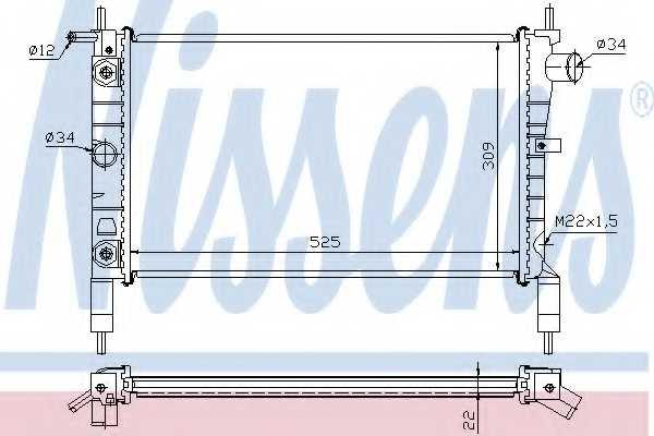 Радиатор охлаждения двигателя NISSENS 632831 - изображение