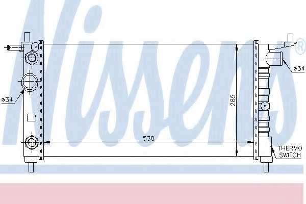Радиатор охлаждения двигателя NISSENS 63284 - изображение
