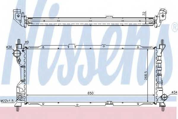 Радиатор охлаждения двигателя NISSENS 63286A - изображение