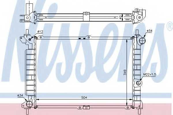 Радиатор охлаждения двигателя NISSENS 63291A - изображение