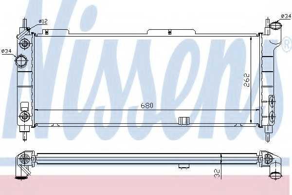 Радиатор охлаждения двигателя NISSENS 632921 - изображение
