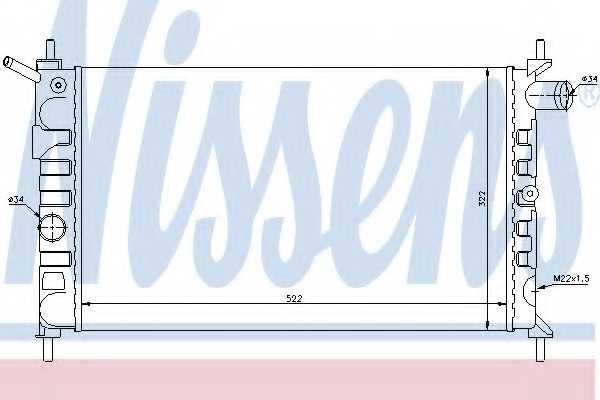 Радиатор охлаждения двигателя NISSENS 63293 - изображение