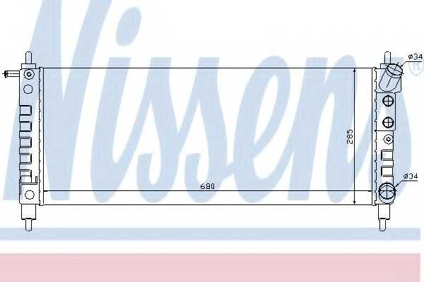 Радиатор охлаждения двигателя NISSENS 63297 - изображение