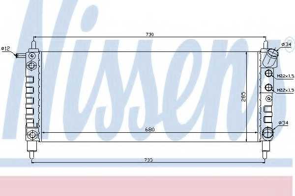 Радиатор охлаждения двигателя NISSENS 63298 - изображение