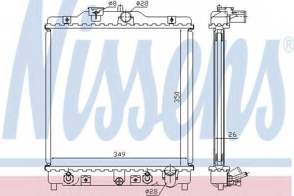 Радиатор охлаждения двигателя NISSENS 633081 - изображение