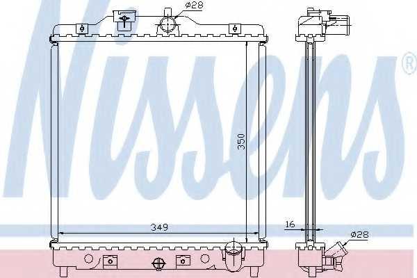 Радиатор охлаждения двигателя NISSENS 63309A - изображение